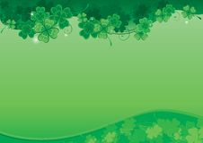 Background  for St. Patricks Day. Vector ornate  background with  clover leaves with place for text Royalty Free Stock Photos