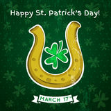 Background for St. Patricks Day with horseshoe, ve Stock Photos