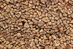 Background with stack of chopped lumber wood Stock Image