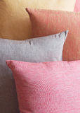 Background stack of colored cushions Royalty Free Stock Images