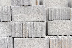 Background of stack concrete block Stock Photos