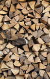 Background - Stack of fire wood Stock Photography