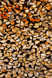 Background of a stack old firewood Stock Image