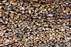 The Background of stack of old firewood Royalty Free Stock Photos