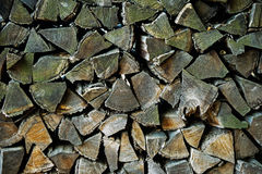 Background of the stack of old firewood Royalty Free Stock Image