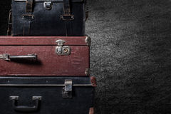 Background stack of old suitcases Royalty Free Stock Images