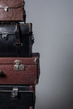 Background stack of old suitcases Royalty Free Stock Photography