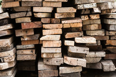 Background  Stack of old wooden boards Royalty Free Stock Image
