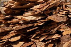 Background. Stack of wooden boards. Royalty Free Stock Photo