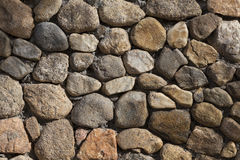 Background -  Stacked Stone Wall with Shade. Royalty Free Stock Images
