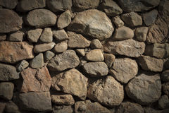 Background -  Stacked Stone Wall with Vignette. Royalty Free Stock Image