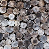 Background of stacked timber logs Stock Photos