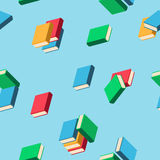 Background with stacks of multi colored books Stock Photos