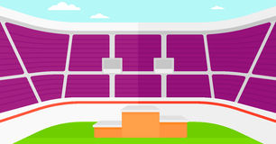 Background of stadium with podium for winners. Royalty Free Stock Images
