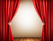 Background with a stage and a curtain. Royalty Free Stock Photos