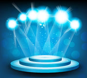 Background with stage and light stock illustration