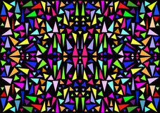 Background in stained glass, mosaic or kaleidoscope Royalty Free Stock Photos