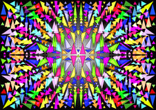 Background of stained glass, mosaic or kaleidoscope Royalty Free Stock Images