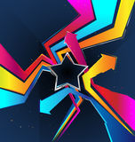 Background with a Star. Vector background with a Star and arrows Stock Image