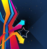 Background with a Star. Vector background with a Star and arrows Stock Photography