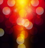 Background. Star and bokeh abstract light background Royalty Free Stock Photo