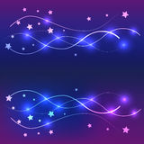 Background star colorful and line Stock Image