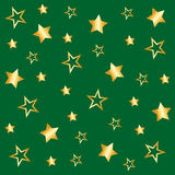 Background with star pattern in green Stock Image
