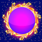 Background with star and revenge for text. Illustration background with star and revenge for text Royalty Free Stock Photography