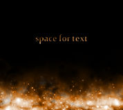 Background with starfield below Royalty Free Stock Photography