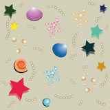 Background with starfish and shells Royalty Free Stock Photos