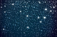 Background with Starry night sky. Falling Snow Effect. royalty free stock photo