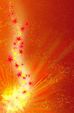 Background with stars. Background with many stars and rays Stock Photography