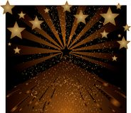 Background with stars. Vector brown tone background with stars Royalty Free Illustration
