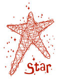 Background with stars. Vector Illustration of background with stars Stock Photos