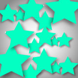 Background with stars. Background with aquamarine stars. Vector illustration EPS 10 Royalty Free Stock Photos