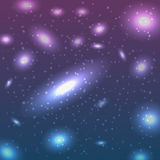 Background with stars. Beautiful Glowing Vector Andromeda Galaxy Stock Photo