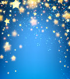 Background with stars. Blue background with stars. Vector paper illustration Stock Photography