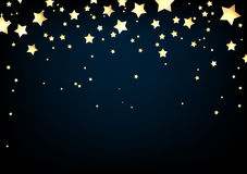 Background with stars. Blue background with stars. Vector paper illustration Royalty Free Stock Image