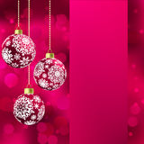 Background with stars and Christmas balls. EPS 8 Royalty Free Stock Photo