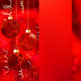 Background with stars and Christmas balls. EPS 8 Stock Photos