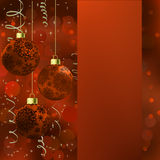 Background with stars and Christmas balls. EPS 8 Royalty Free Stock Photos