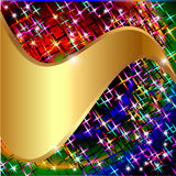 Background with stars and gold(en) wave for Royalty Free Stock Image