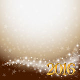 Background with stars and golden 3d 2016 Royalty Free Stock Photography