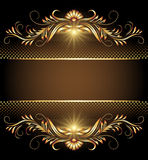 Background with stars and golden ornament Royalty Free Stock Images