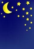 Background of stars and moon applique Stock Image