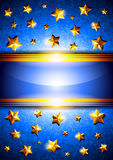 Background with stars and place for text Royalty Free Stock Image