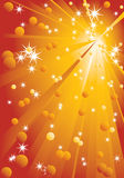 Background with stars and rays. Royalty Free Stock Images