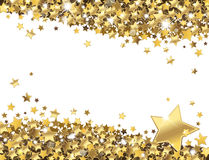 Background of stars. Background of shiny gold stars Stock Images