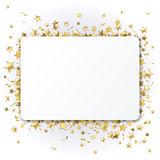 Background with  stars. Background with shiny gold stars Stock Image