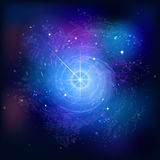 Background with stars. Space abstraction. Royalty Free Stock Photography